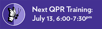 Suicide Prevention QPR Training – July 13 from 6:00pm to 7:30pm