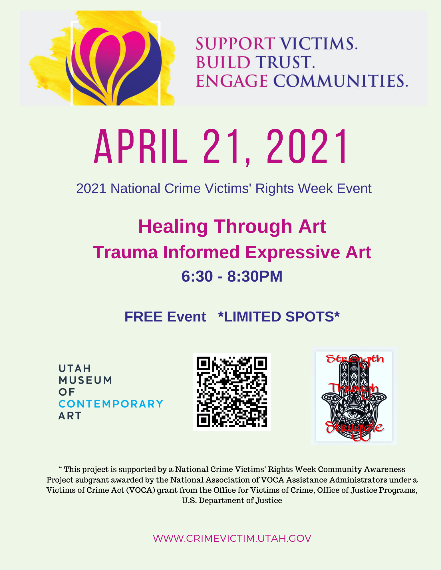 2021 National Crime Victims Rights Week Expressive Art