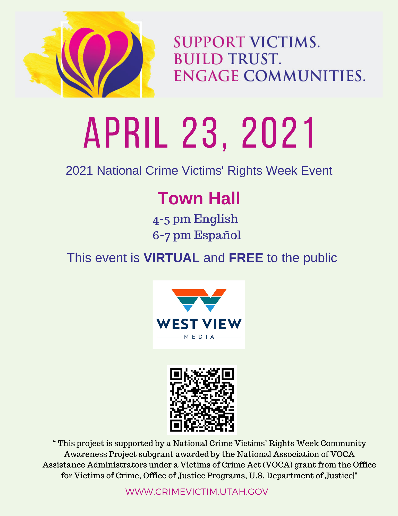 2021 National Crime Victims Rights Week Town Hall