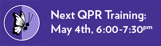 Suicide Prevention QPR Training – May 4th from 6:00pm to 7:30pm
