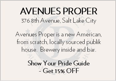 Avenues Proper. 376 8th Ave, Salt Lake City. Avenues Proper is a new American, from scratch, locally sourced public house. Brewery inside and bar. Show Your Pride Guide to get 15% off!