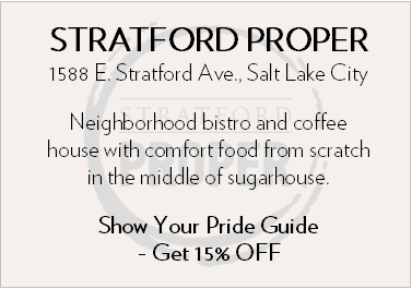 Stratford Proper. 1588 E Stratford Ave Salt Lake City. Neighborhood bistro and coffee house with comfort food from scratch in the middle of Sugarhouse. Show your Pride Guide - Get 15% OFF.
