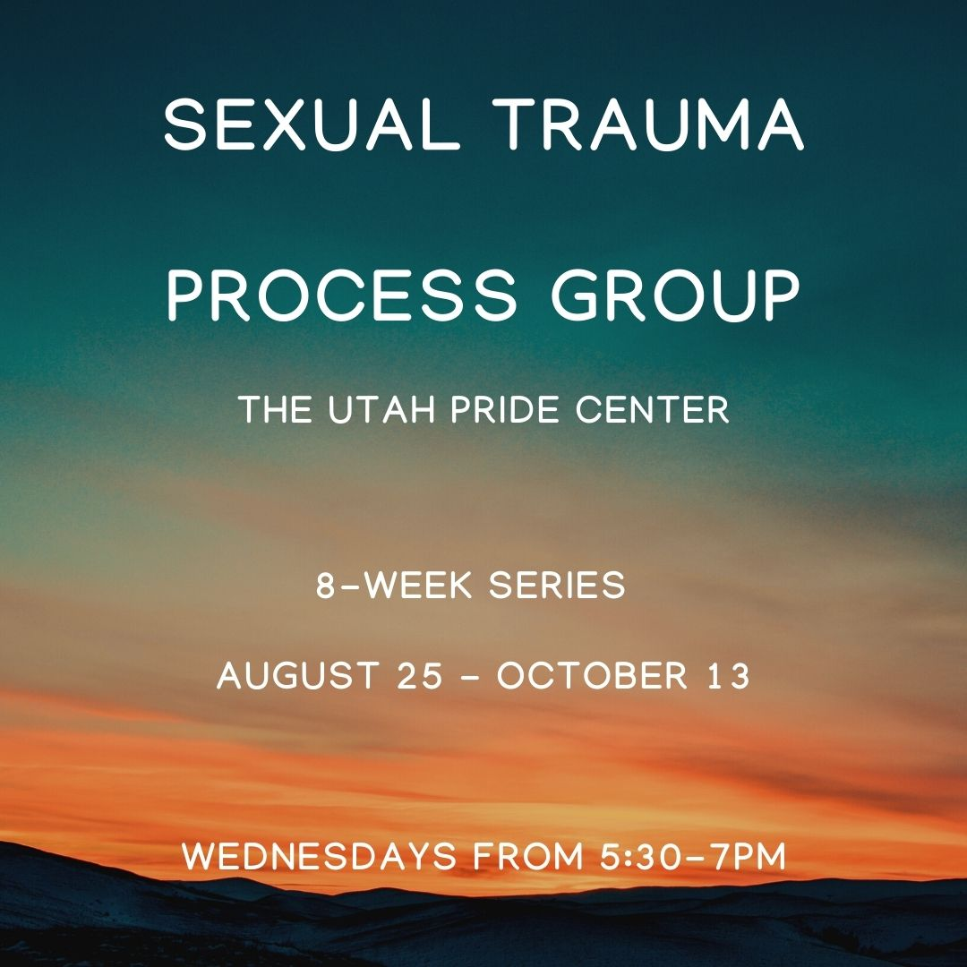 Banner for Sexual Trauma Processing Group. More information & registration button in page text.